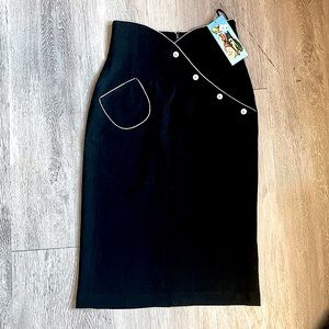 Bettie Page NWT! Black + White Rockabilly Skirt M